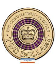 2013 Purple stripe Queens Coronation $2 coin 60 years Anniversary rare coins ✔