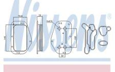 NISSENS Radiador de aceite motor 90741