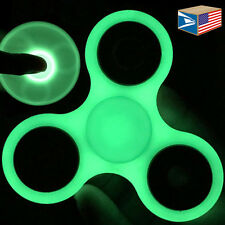 12 LOT FIDGET SPINNER Glow In Dark HAND FINGER TOY STRESS ANXIETY ADHD AUTISM!