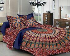 King Size Peacock Mandala Bedding Doona Duvet Cover Indian Hippy Comforter Set