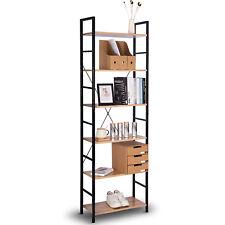 Standregal Bücherregal Lagerregal Haushaltsregal 6 Ablagen Holz Stahl RGB9307hei