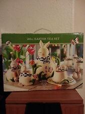 20pc Tea set Mercuries Easter Bunny Rabbit design with original box