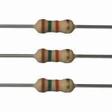 25 x 1.5k Ohm Carbon Film Resistors - 1/4 Watt - 5% - 1K5 - Fast USA Shipping
