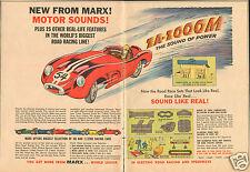 1964 Marx Road Race Track Set Ferrari GT 2 Page Print Ad