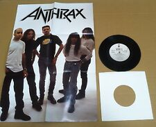 ANTHRAX Black Lodge EDIT w/ POSTER SLEEVE & NUMBERED UK 7 INCH Vinyl USA Seller