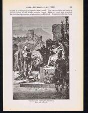 Vercingetorix surrenders to Caesar -1894 Page of Roman History