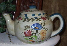 VINTAGE shabby rose teapot CHIC COTTAGE DECOR TEA POT FLORAL