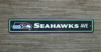 "X Large Lic Seattle Seahawks Ave Street Sign NFL Plastic Football 4"" x 24"""