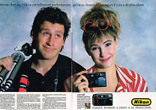 PUBLICITE advertising 1987   NIKON   appareil photo compact autofocus ( 2 pages)