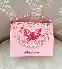 Sweet Love Butterfly 3D Pink Gift Box •Laser Die Cut •Handmade