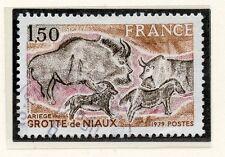 TIMBRE FRANCE OBLITERE N° 2043 GROTTE DE NIAUX