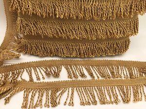 45m Thin Gold Bullion Fringe, 5cm Wide Fringing
