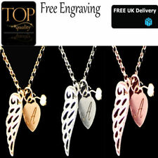 Modeschmuck-Halsketten & -Anhänger aus Metall-Legierung mit Herz-Schutzengel
