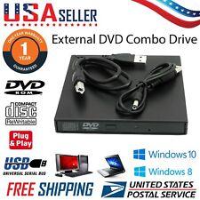 Ultra Slim USB 2.0 Portable External DVD ROM CD-RW Combo Drive For Laptop PC