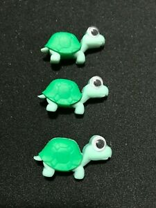 Turtle Wild and Wacky Plastic Novelty Buttons Craft Supplies  3 pcs