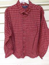 mens Cremieux Size XL Red/Black/White Plaid Shirt