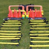 "Pack of 6 Hurdles Agility Speed Training 4"" 6"" 9"" 12"" Football Rugby Passing Arc"