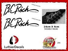 BC Rich Guitar Decal Headstock logo Waterslide 273
