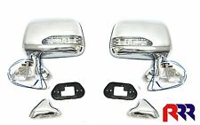 TOYOTA HILUX 2/4WD 10/88-02/05 DOOR MIRROR CHROME WITH LED FLASHER (PAIR)