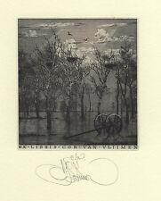 Konstantin Kalinovich, Kalynovych, book plate exlibris etching