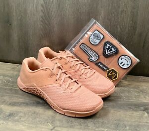Nike Metcon 4 Women's Training Shoes Sz 11 with Patches Rose Gold BQ7978-600