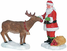 Lemax Decoration 'Reindeer Treats', Christmas Cake Decorating Santa Xmas Figure