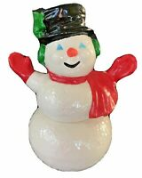 Vtg SNOWMAM Riddell Pottery Figure ceramic Christmas Frosty Holiday Mid century