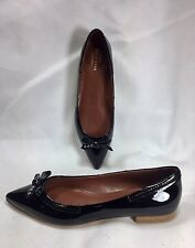Cole Haan Alice Women Shoes Black Pointed Toe Patent Leather Bow Flats 7 B