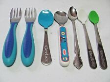 Collection 7 Toddler Infant Spoons Forks Coated Gerber Thomas Train Oneida