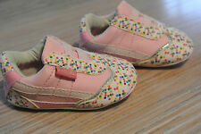 EUC Vintage PASTRY Baby Shoes SPRINKLE CRIB RA70400CR Pink Dots Size 2 M