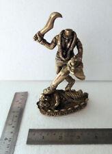 Brass Statue Chinna Masta Head Less Ful Jogni Maa Durga Kali, 694 Grams