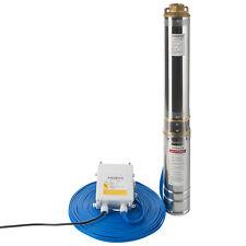 Arebos 4 Zoll Tiefbrunnenpumpe 0,75KW 4000L/H