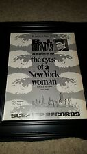 B.J. Thomas The Eyes Of A New York Woman Rare Original  Promo Poster Ad Framed!