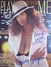 CHRISTY CANYON SIGNED PLAY CHRISTY FOR ME SLICK w/ PIC PROOF!