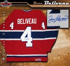 JEAN BELIVEAU Signed Montreal Canadiens Red CCM Jersey 384ab940d