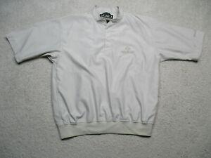 Zero Restriction 1/4 Zip Jacket Mens Medium White Short Sleeve Lightweight Golf