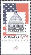 """MONACO 2006 """"WASHINGTON"""" 06"""" stampex/FLAG/Edifici/ANIMAZIONE 1 V (n38300)"""