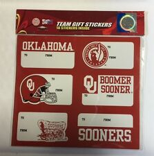 Oklahoma Sooners Christmas Present Name Labels Team Gift Stickers - To/From NCAA
