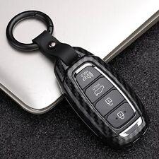 Fits 2020 Hyundai Veloster N Santa Fe Palisade Black Carbon Fiber Key Fob Case