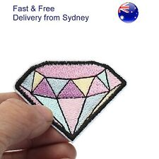 Diamond Iron on patch - gem jewel for engagement joy forever embroidery patches