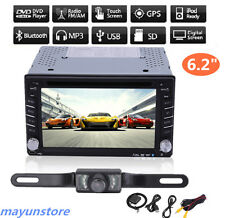 "6.2"" GPS Navigation 2Din Car Stereo DVD CD Player BT Auto Radio iPod TV+Camera @"
