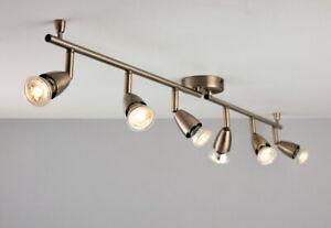 AMALFI GU10 Indoor Ceiling Spotlight Bar - Adjustable 6 Light White/Silver/Brass