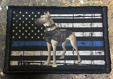 K-9 Thin Blue Line Morale Patch ARMY MILITARY  ISAF ATTACK DOGS OF WAR OEF K9