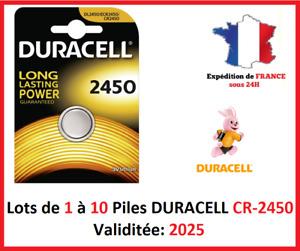 Pack Von 1 Rechts 10 Batterie CR-2450/DL-2450 Duracell Knopf Lithium 3V Dlc