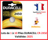 Lot de 1 à 10 Pile CR-2450 / DL-2450 DURACELL bouton Lithium 3V DLC 2026