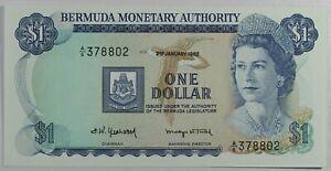 Bermuda, 1982, QE11, $1 Dollar, P-28b, CRISP UNC!