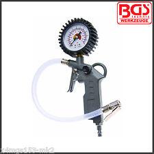 BGS - Tire Inflator 0-12 Bar - Pistol Grip Version - Pro Range - 3201