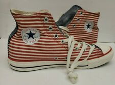 Converse All Star Hi Top Stars & Stripes Red White Blue Size 10.5 Vote Election