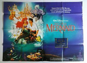 The Little Mermaid 1989 Original UK Quad Cinema Poster
