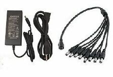 CamVtech USA 12V 5A (5000mA) AC DC Power Supply Adapter + 1 Female to 8 Male ...